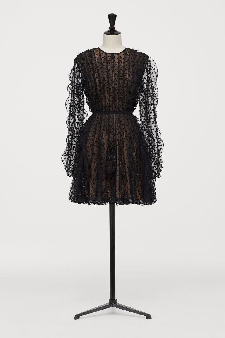 h&m black tulle dress