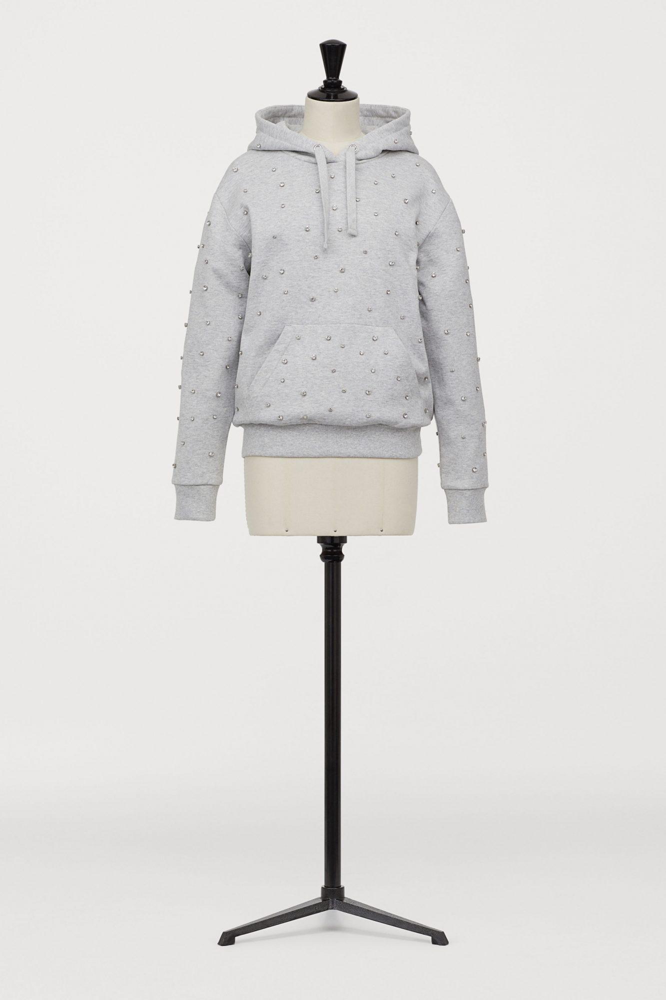 h&m hoodie with rhinestones