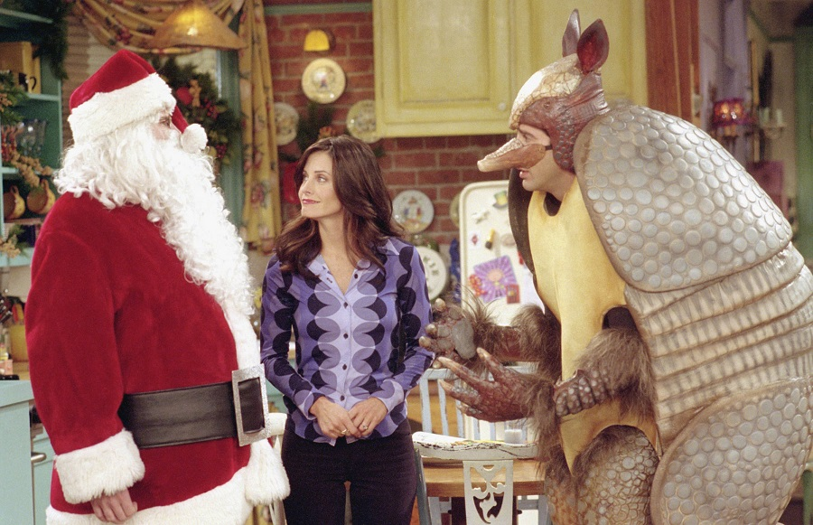 friends show with ross as the holiday armadillo