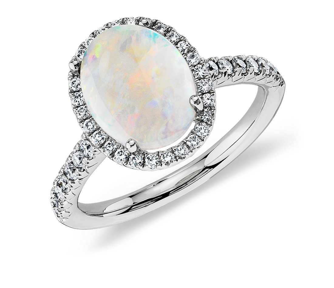 blue nile affordable opal engagement ring