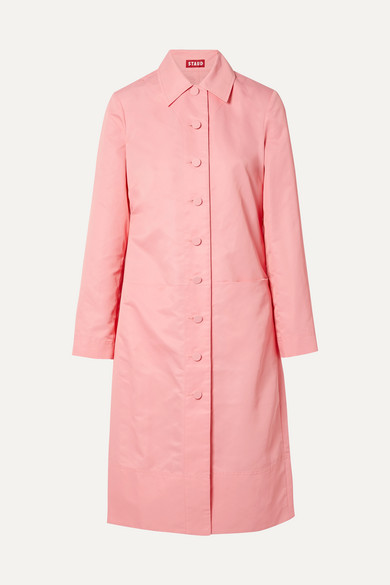 maura pink shell trench coat
