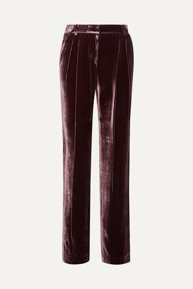 michael kors velvet pleated pants