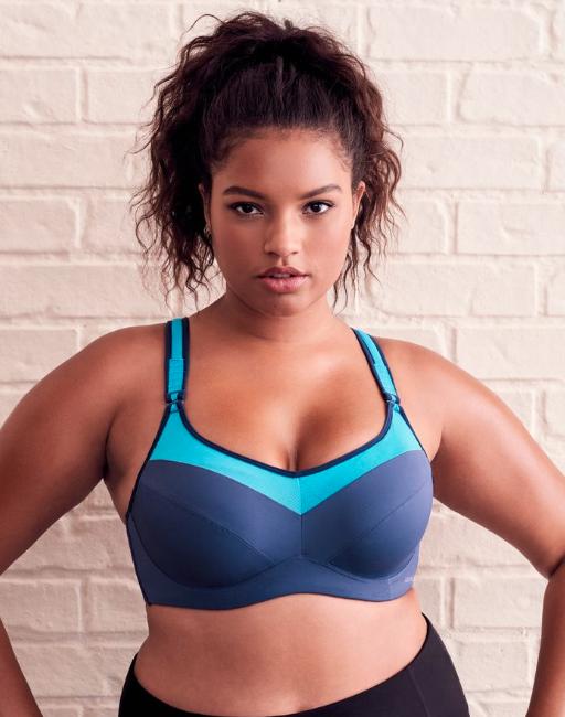 adore me blue plus size sports bra