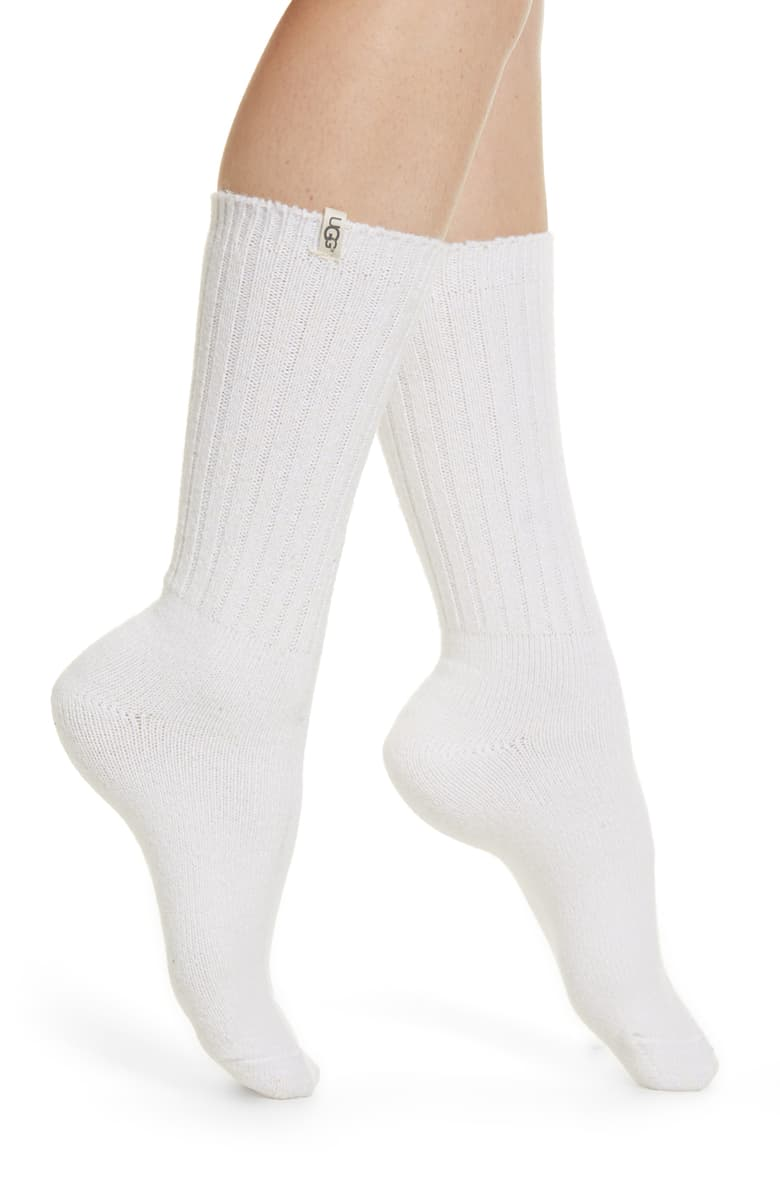 UGG ribbed crew socks from nordstrom holiday gift idea