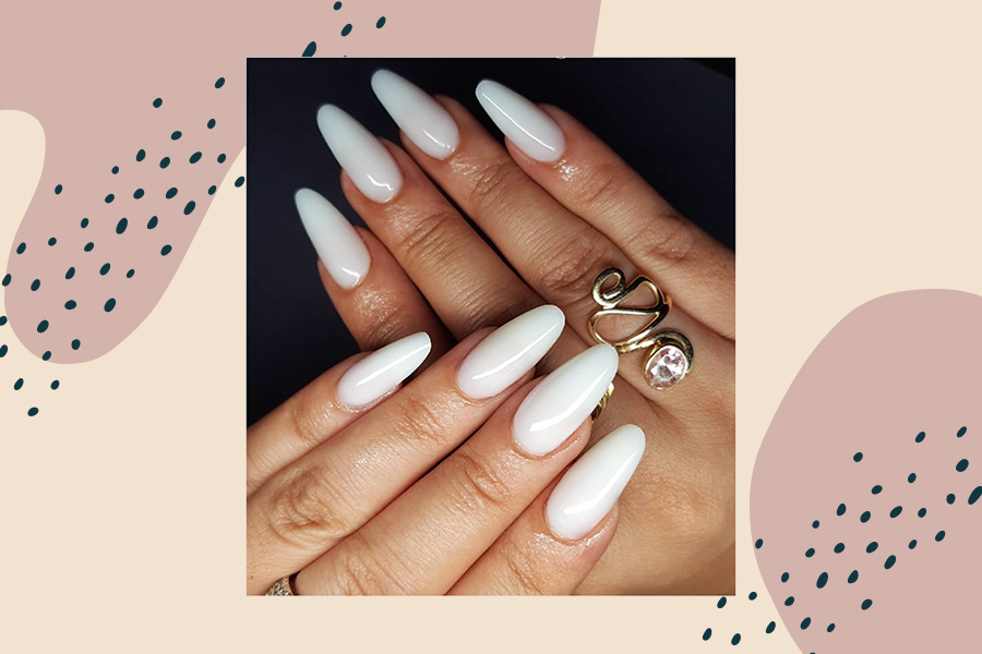milky nails