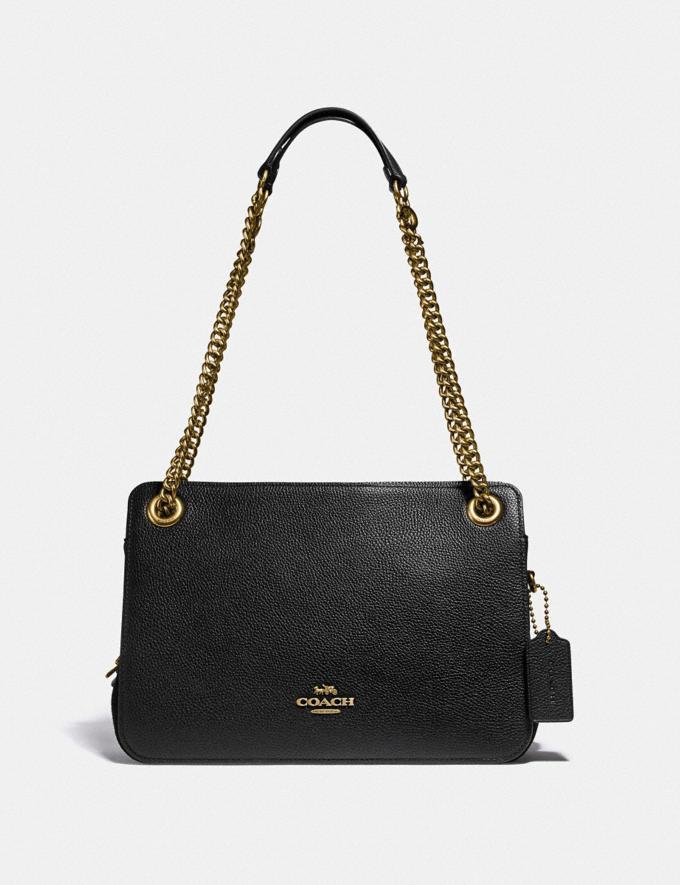 coach bryant convertable caryall black handbag