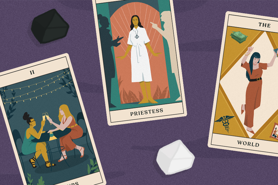 tarotscopes feature image with three tarot cards