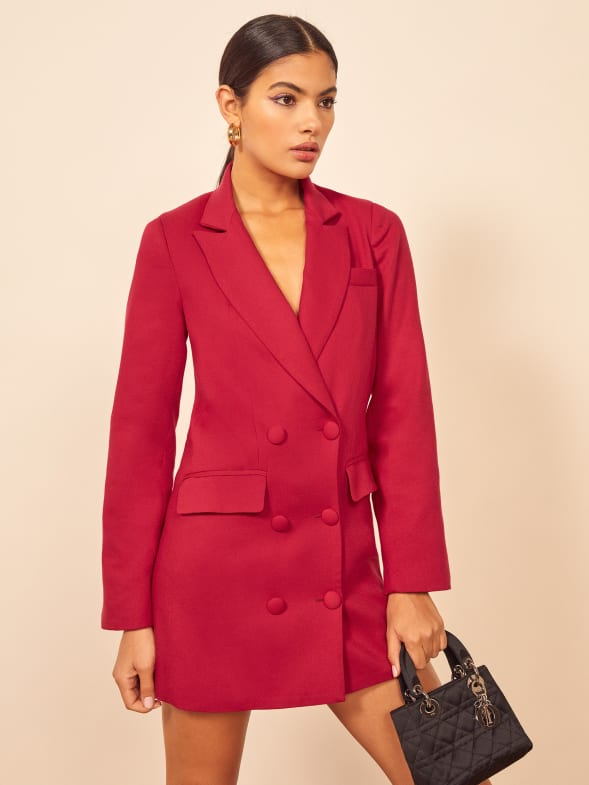 reformation strictly business collection mackie dress