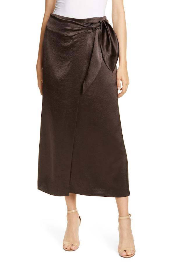 Meghan Markle Satin Skirt