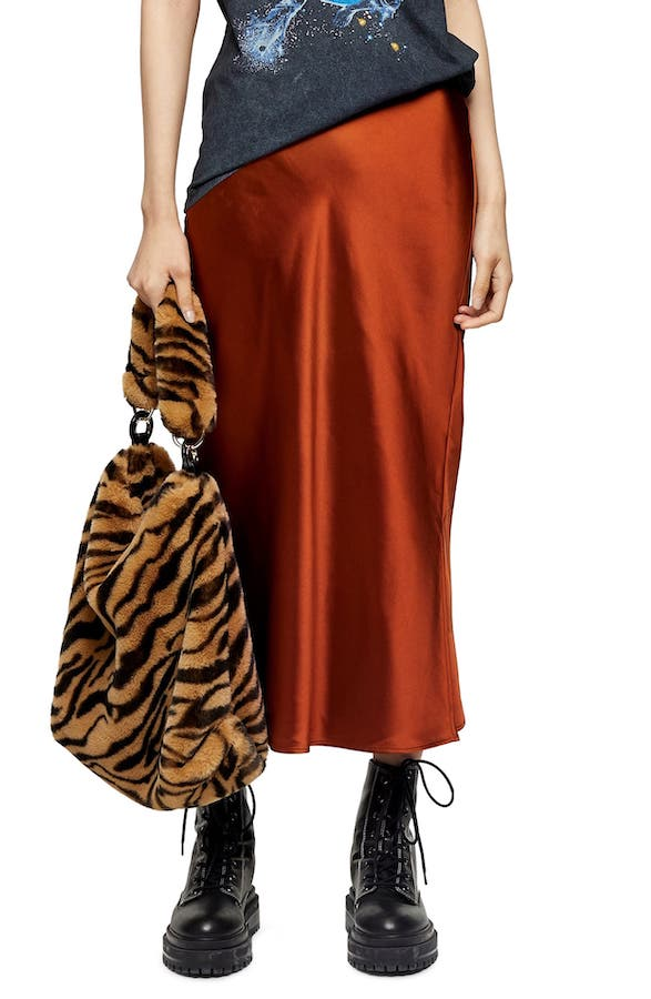 topshop-satin-skirt