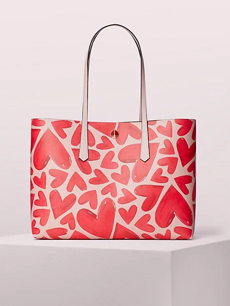 kate spade tote with hearts