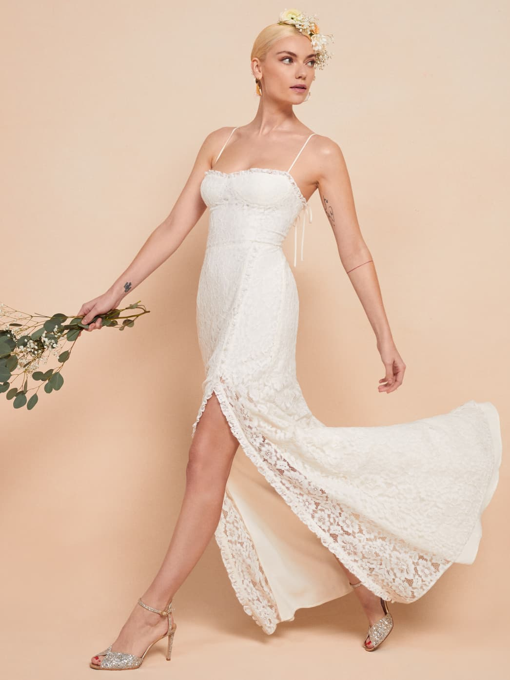 reformation daisy dress lace white