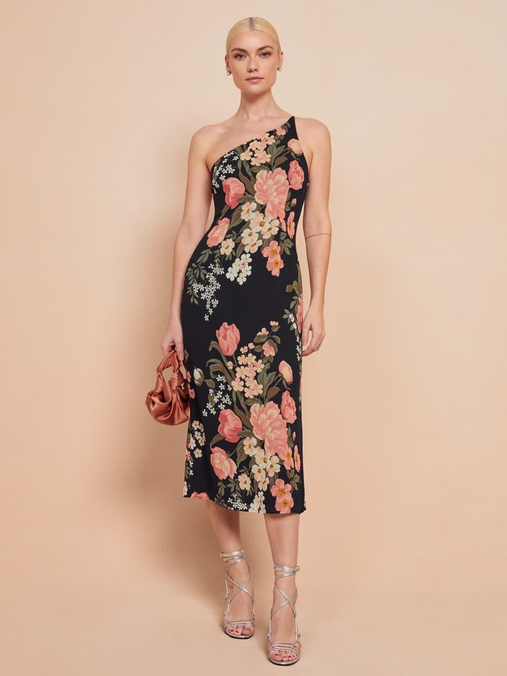 reformation floral eastside dress