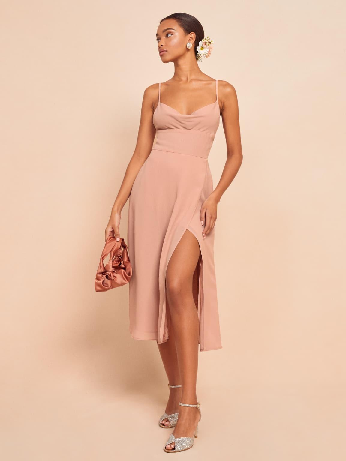 reformation gala bridesmaid dress, reformation wedding collection
