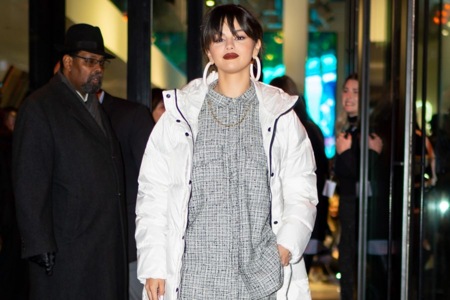 Selena Gomez Everlane Sleeping Bag Puffer Coat