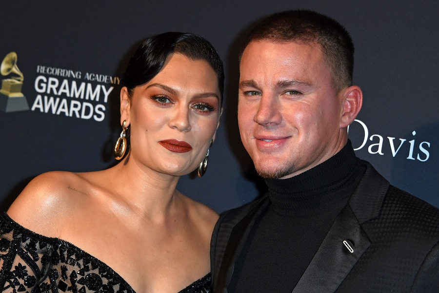 channing tatum and jessie j at the 2020 grammys