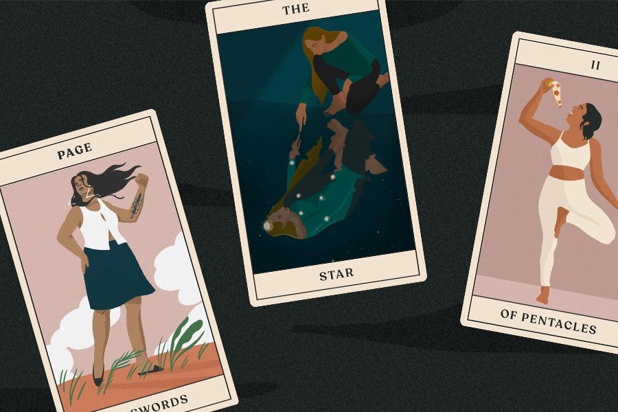 three tarot cards for tarotscopes reading