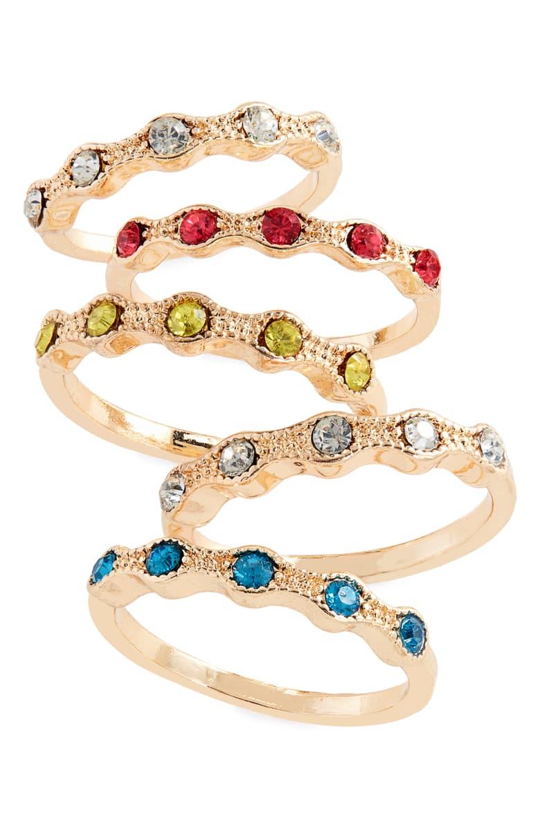 stackable birthstone rings, stackable gemstone rings