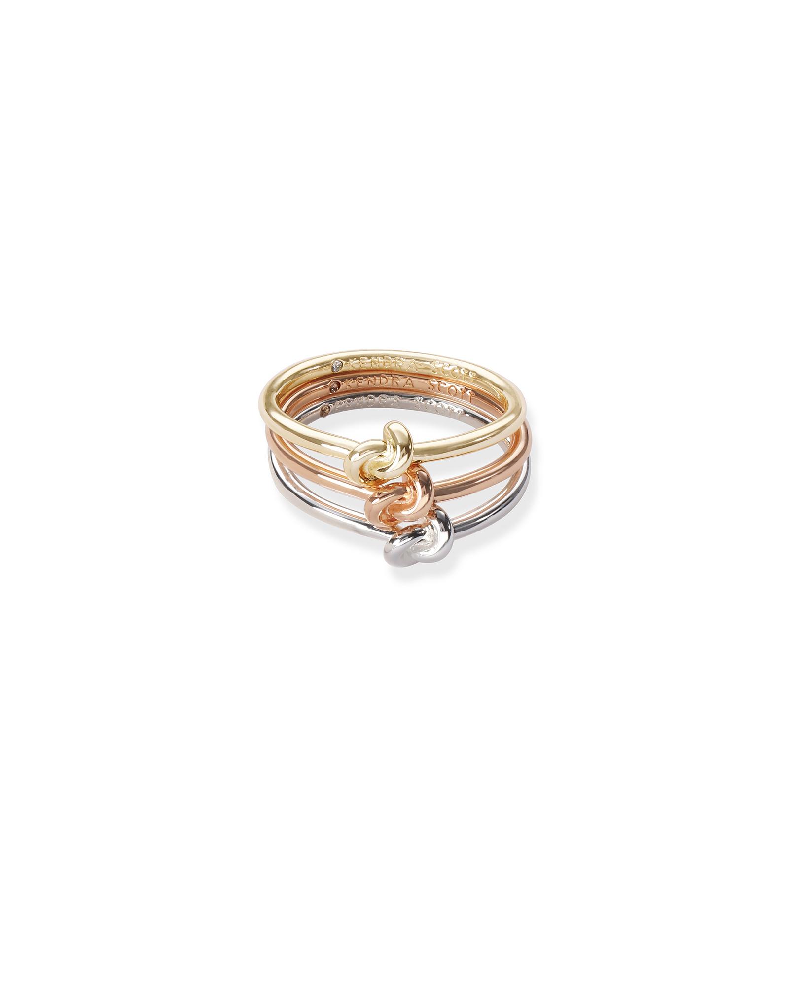 kendra scott stackable rings mixed metal
