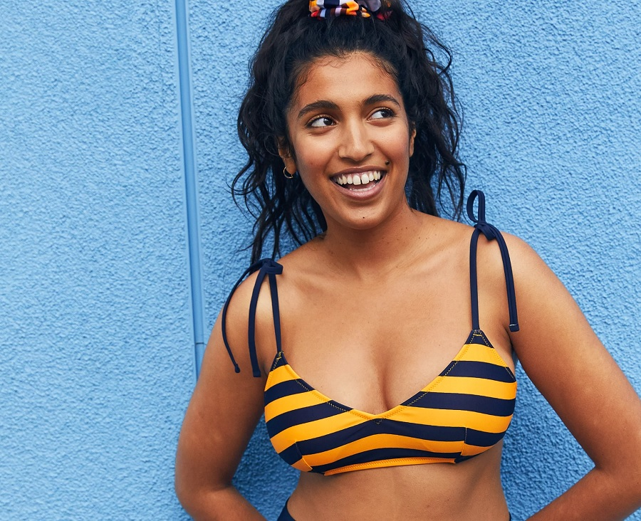 aerie swim collection bikini top from recycled plastic bottles