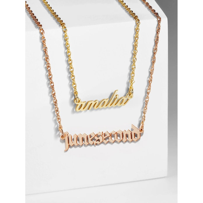 bauble bar custom nameplate necklace
