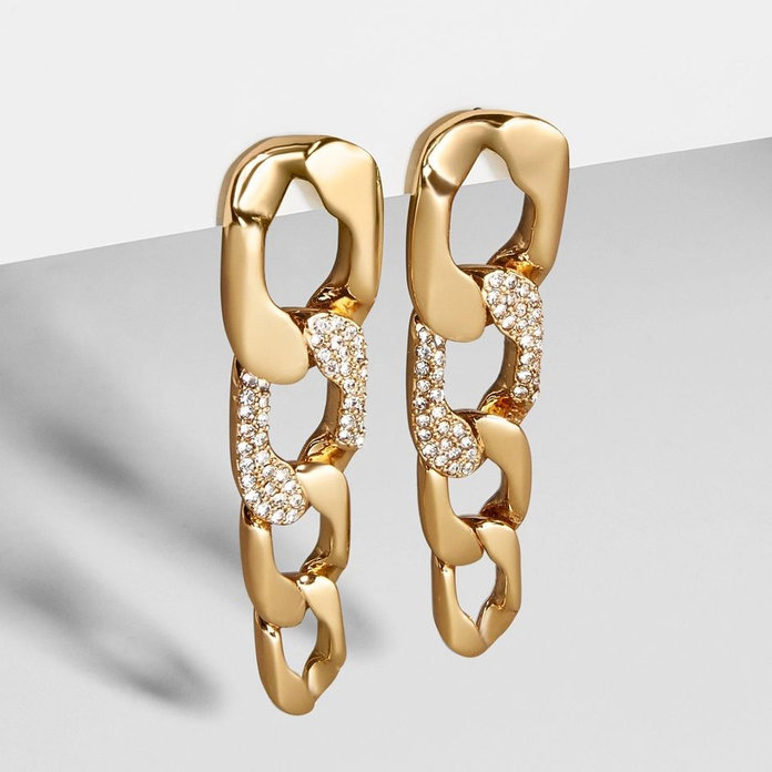 bauble bar michel curb chain drop earrings