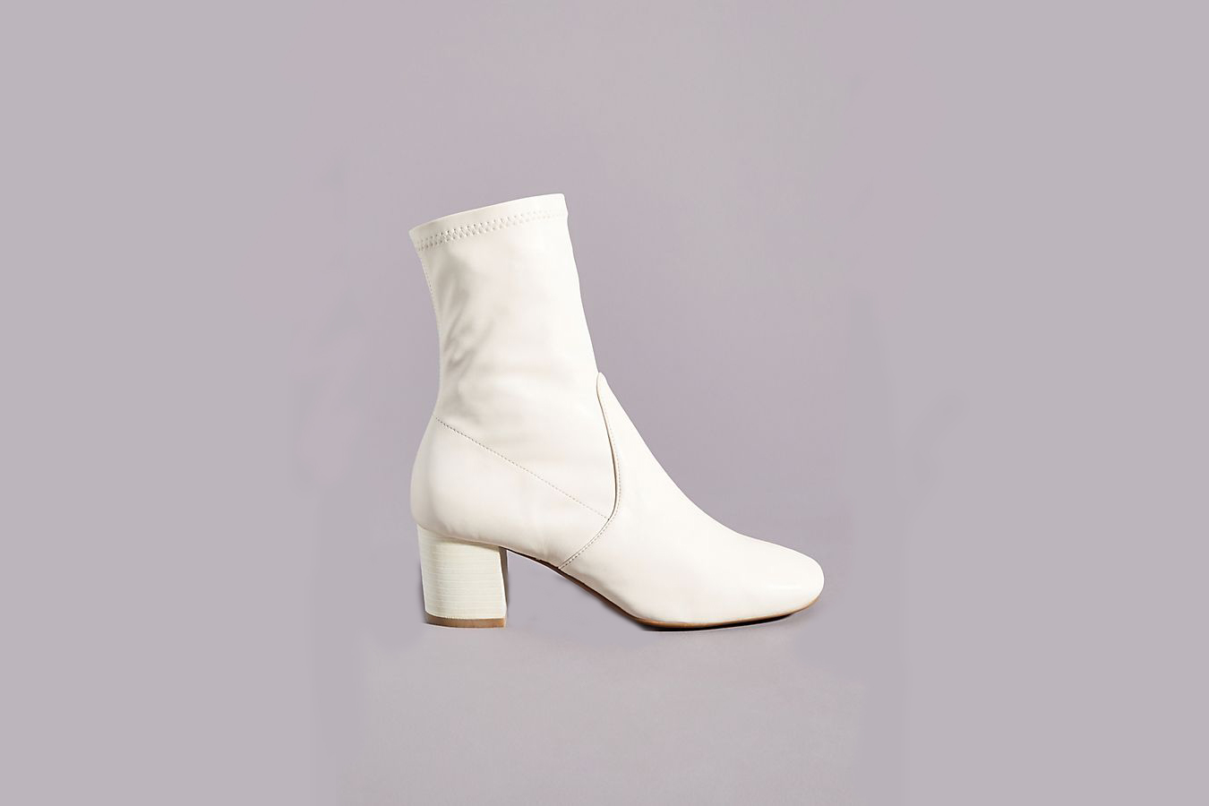 Anthropologie white booties