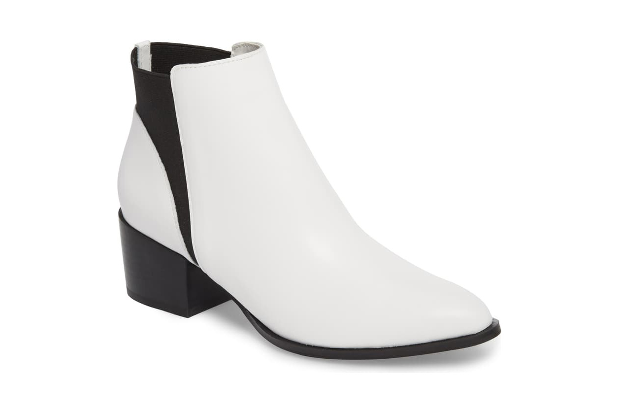 Chinese laundry white booties