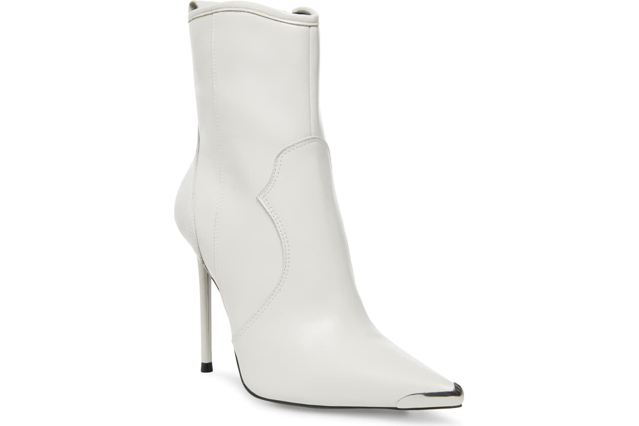 Steve Madden x Winnie Harlow white booties