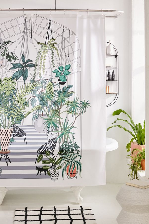 urban outfitters greenhouse shower curtain, uo home sale