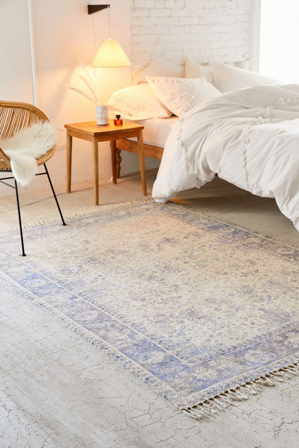 urban outfitters printed chenille rug