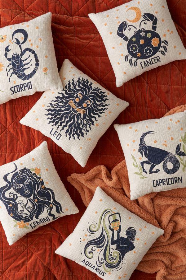 Urban Outfitters zodiac sign throw pillows