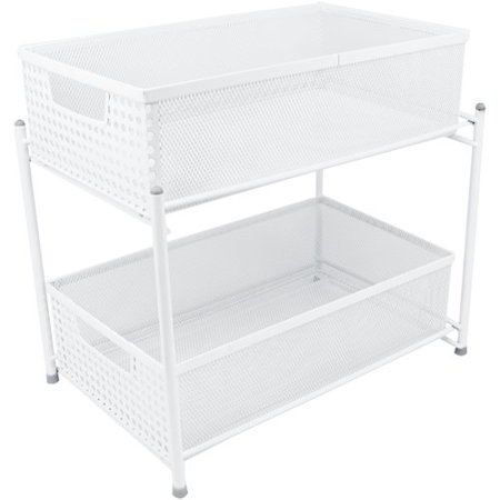 Sorbus 2-Tier Organizer Baskets with Mesh Sliding Drawers
