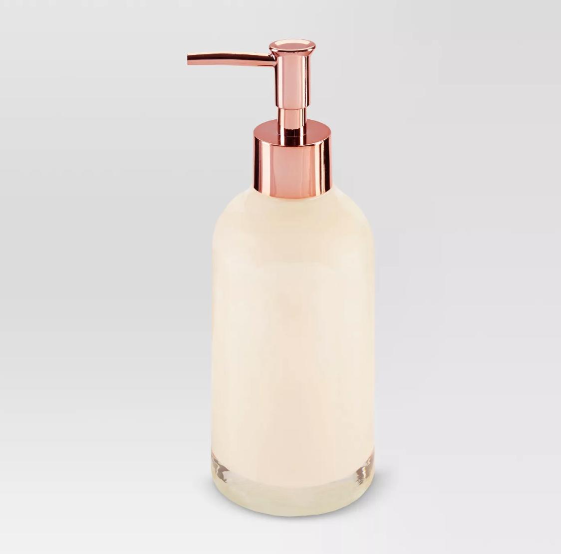 Pearlized Soap/lotion Dispenser Medium Beige - Threshold™