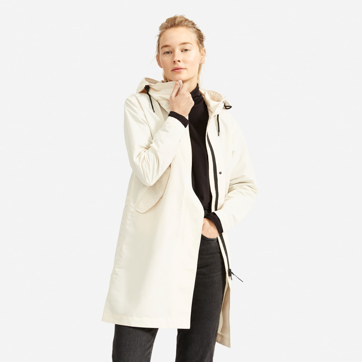 everlane anorak rain jacket, best womens rain jacket