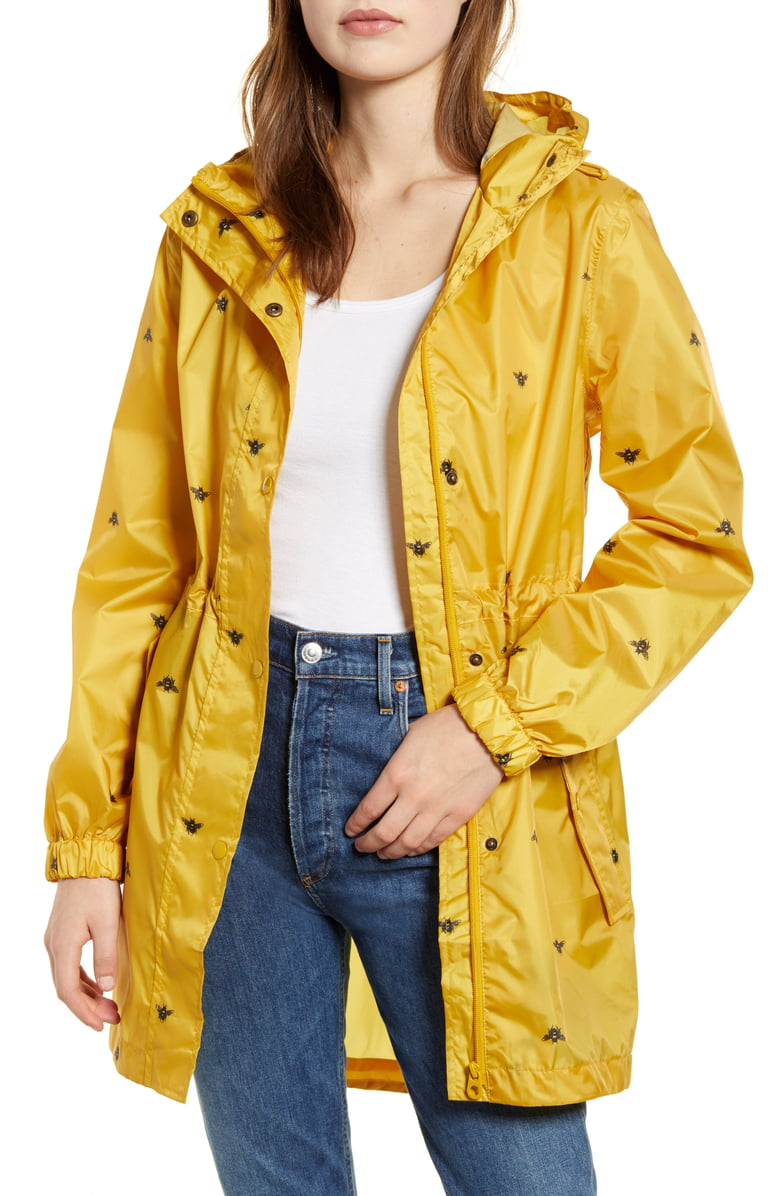 nordstrom jules packable yellow rain jacket