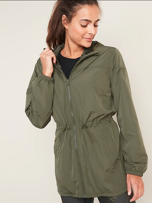old navy waterproof womens rain jacket
