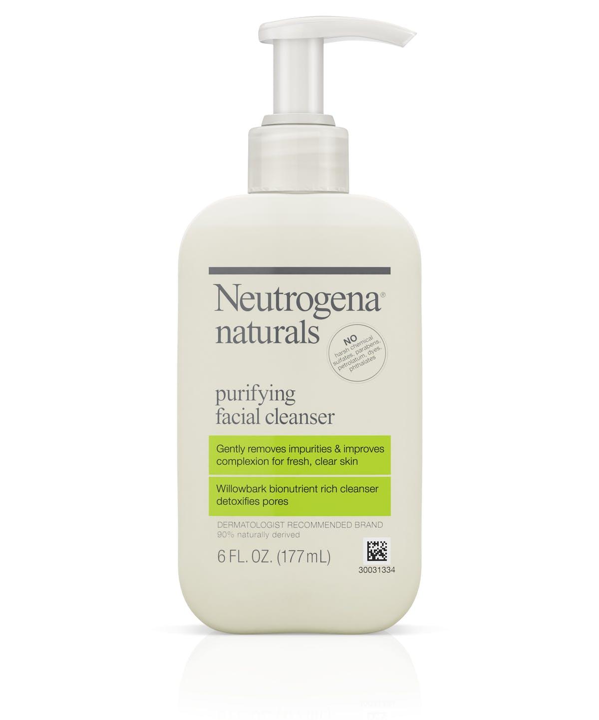 neutrogena naturals purifying facial cleanser salicylic acid face wash