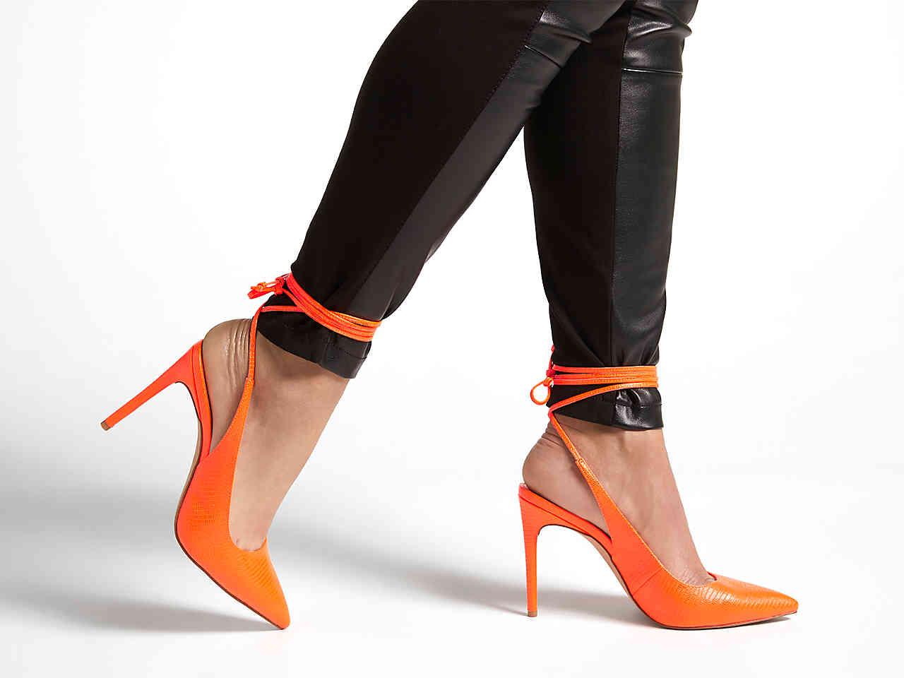 JLO Jennifer Lopez DSW Collection florella orange pump