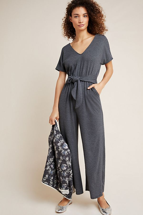 anthropologie textured jumpsuit sale, work from home clothes