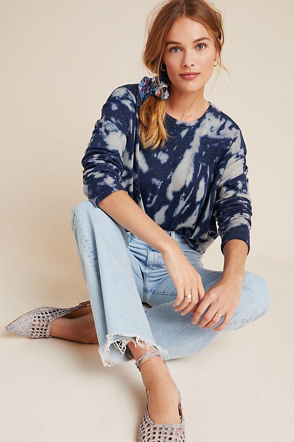 anthropologie tie dye sweatshirt sale