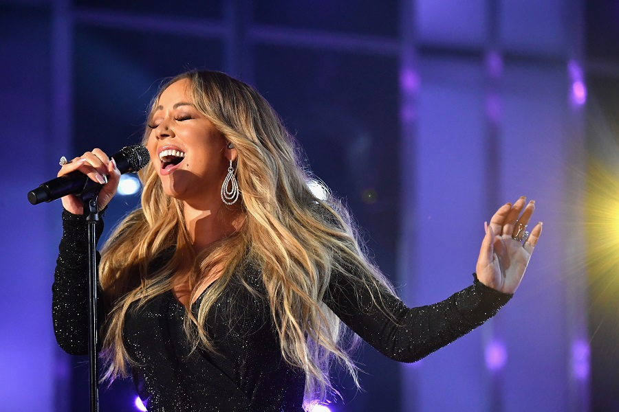 mariah carey performs on stage at 2019 billboard music awards