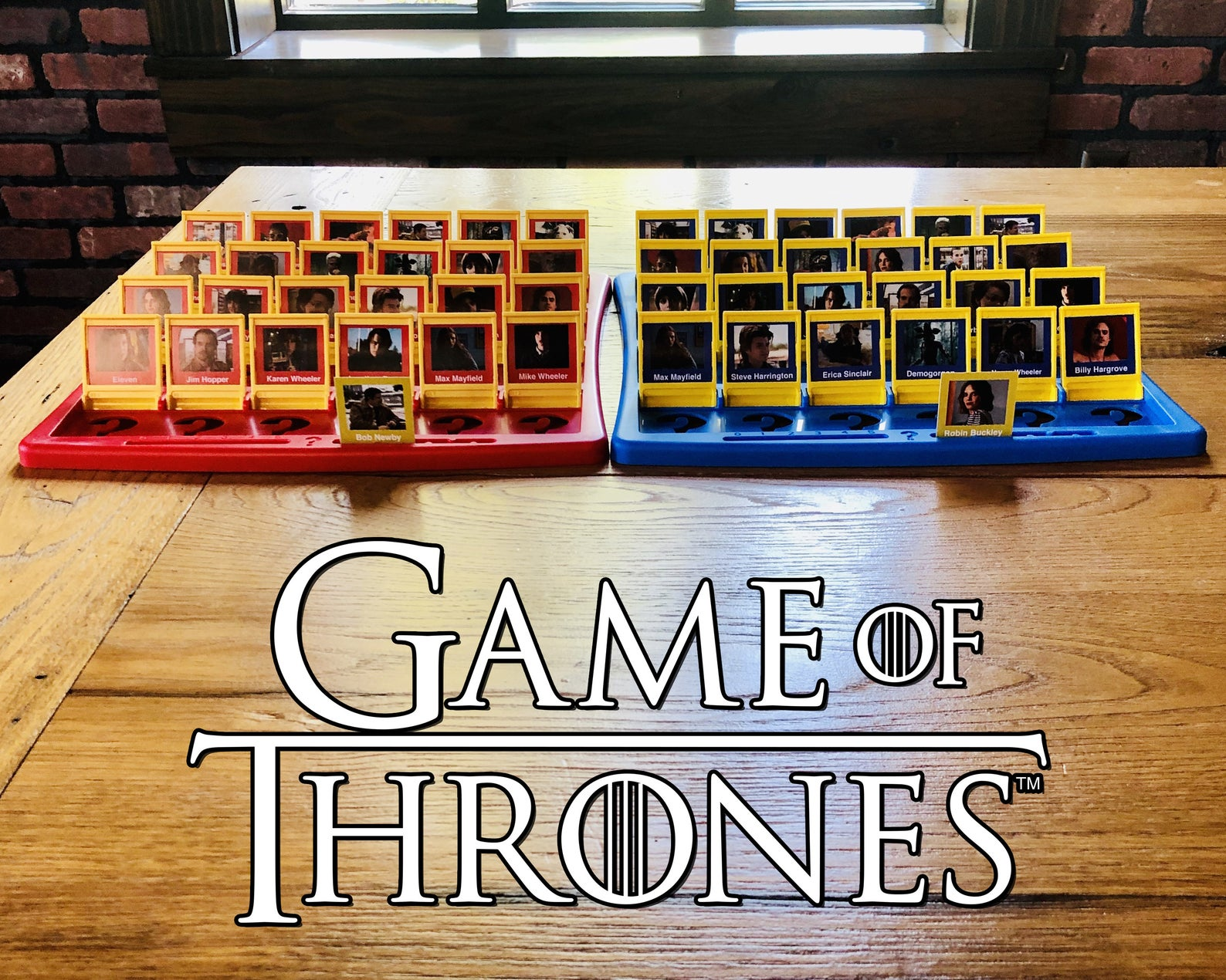 Etsy Guess Who game of thrones board game