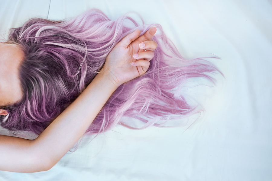 purple shampoo temporary hair dye