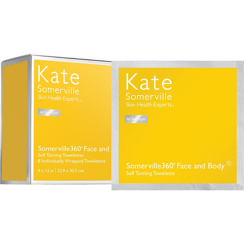 kate somerville face body self-tanner towelettes