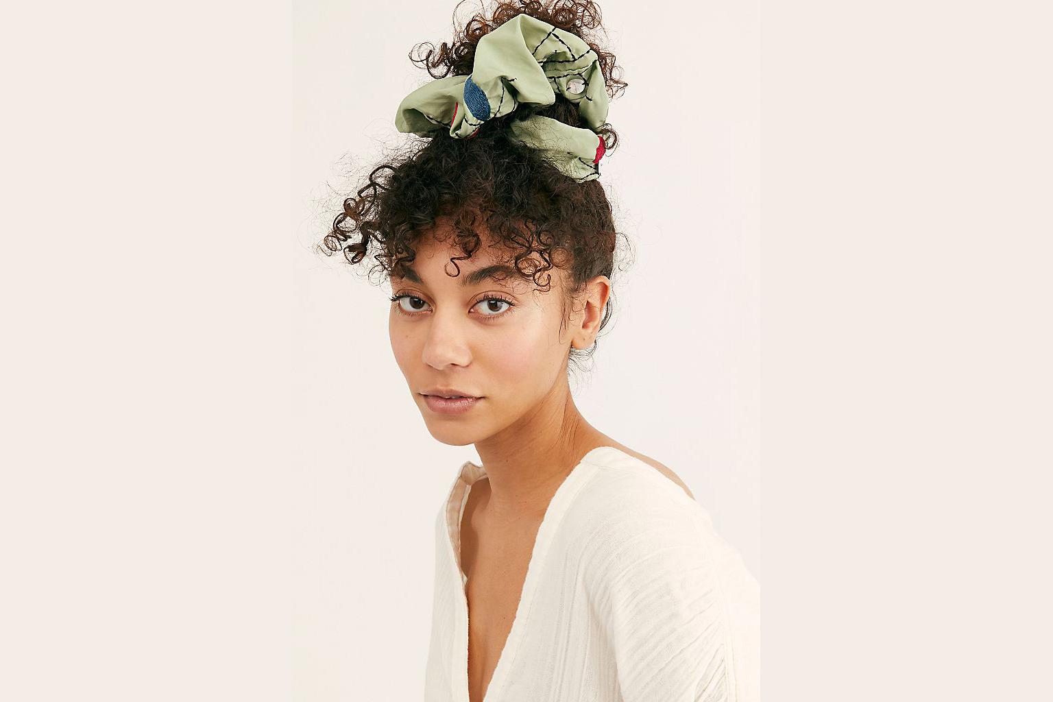 free people embellished super scrunchie