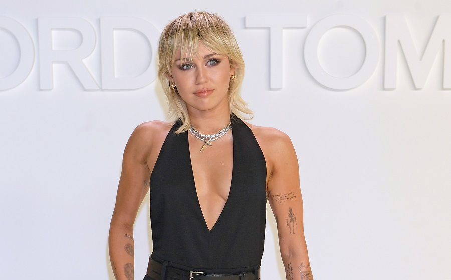 miley cyrus at the tom ford NYFW show tattoos