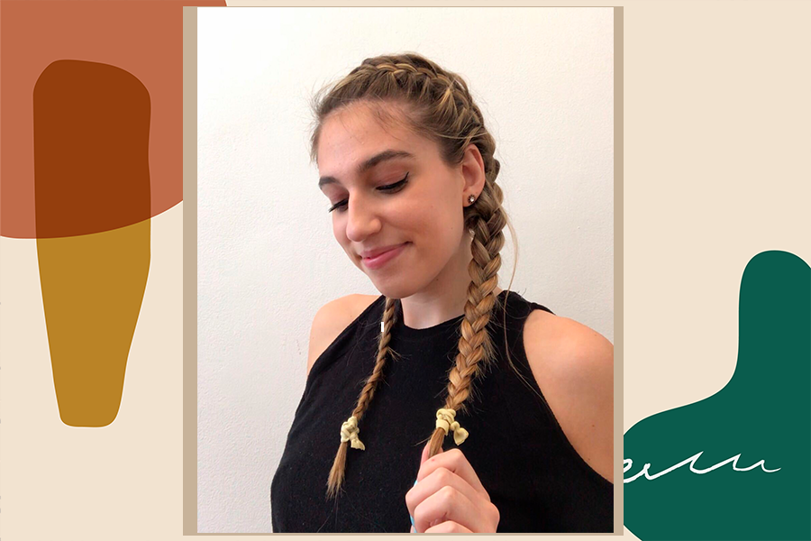 how to french braid your own hair, double french braid tutorial