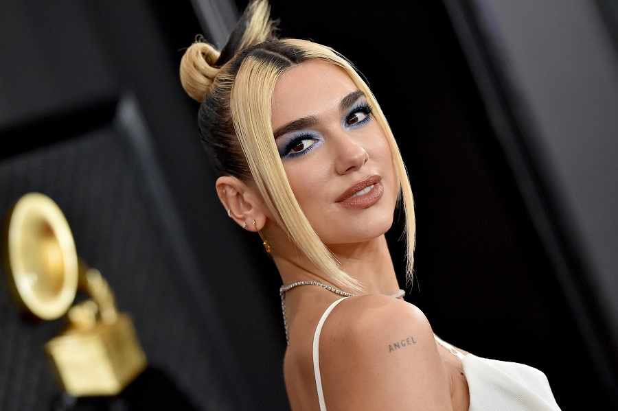 dua lipa at the grammy awards
