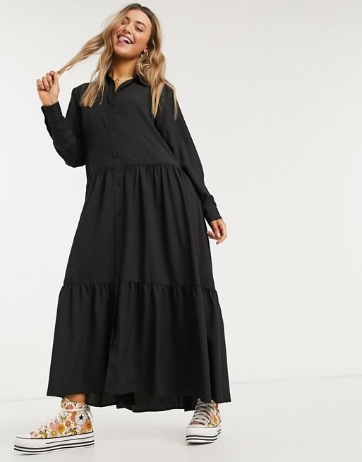asos black shirt dress loungewear